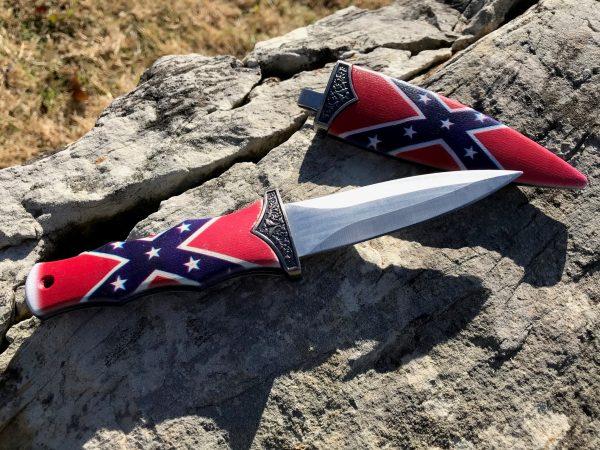 Rebel Flag Boot Dagger Knife