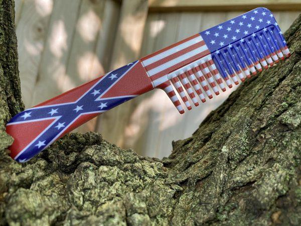 rebel flag comb knife america
