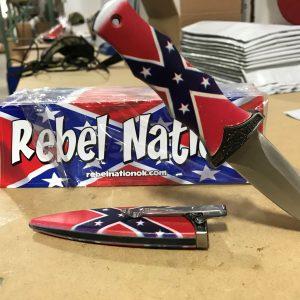 Confederate Flag Knives