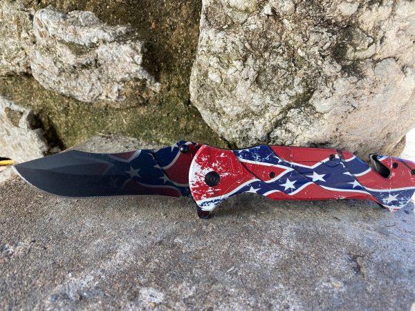 Confederate Rebel Flag Ghost Knife