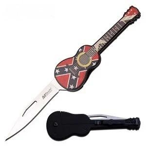 rebel flag guitar knife