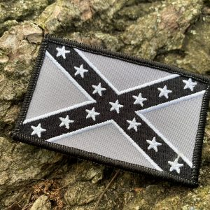 Black and Silver Rebel Patch
