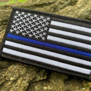 Blue Line American Flag Patch