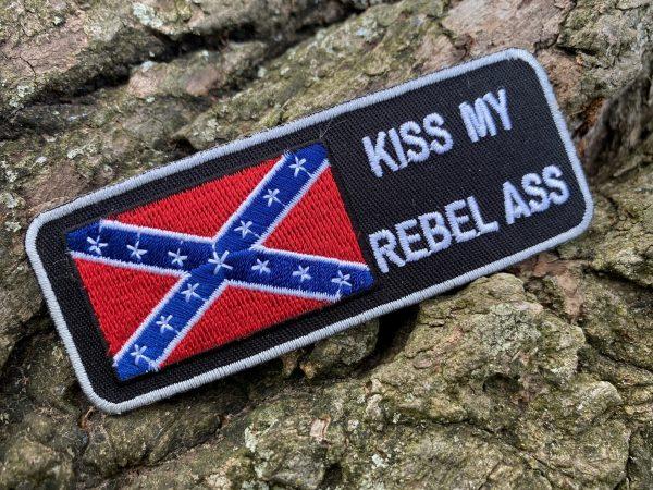 Kiss My Ass Rebel Flag Patch