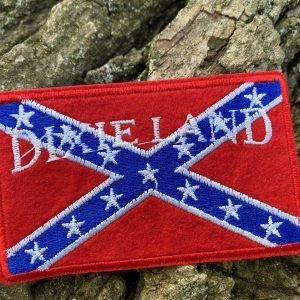 dixieland Confederate Rebel Flag patch