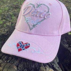pink dixie babe rebel flag cap