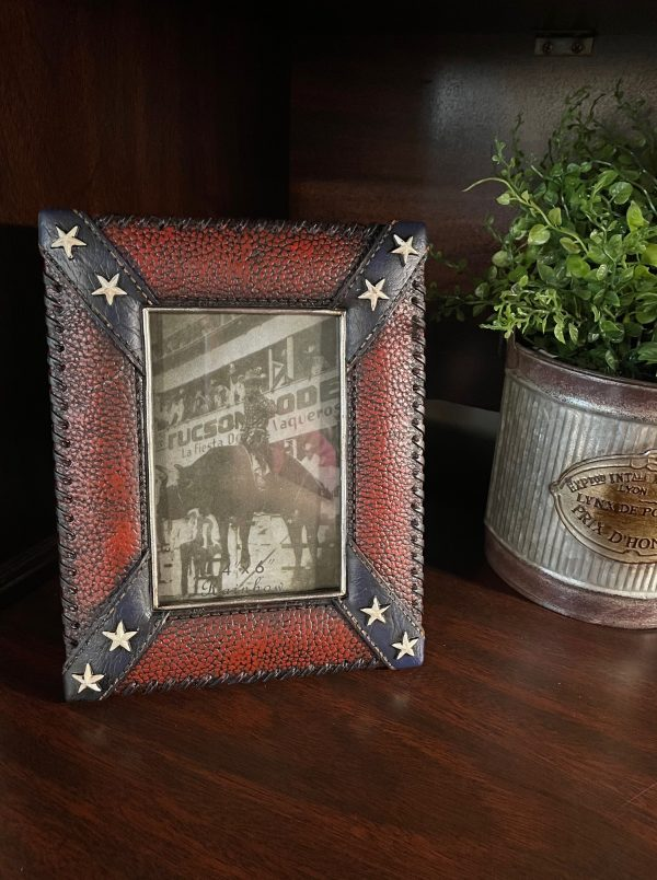 Confederate Leather Look Picture Frame