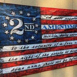2nd Amendment Vintage American Flag