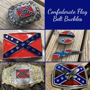 Confederate Flag Belt Buckles