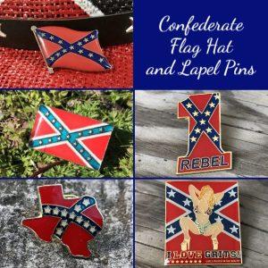 Confederate Flag Hat and Lapel Pins