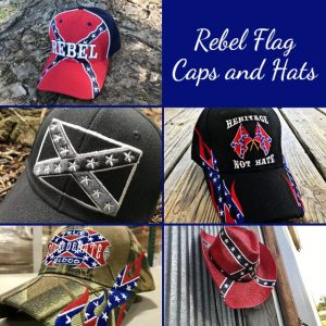 Rebel Flag Caps and Hats