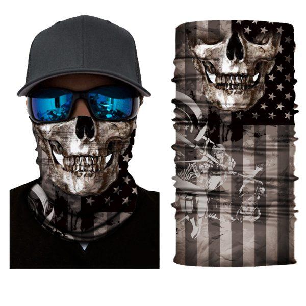 American Flag Skull Neck Gaiter