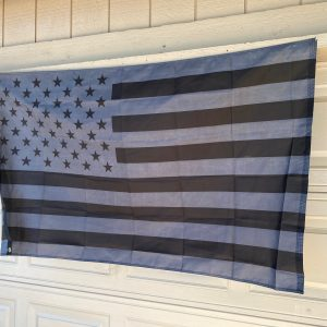 Black and Grey American Flag