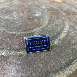 Blue Donald Trump MAGA Pin