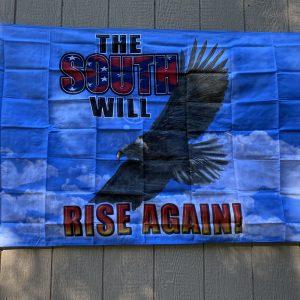 South Will Rise Again Eagle Confederate Flag